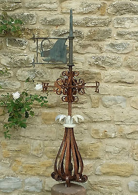 Late C18th large English weathervane with copper Boars head direction arrow