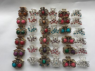 Wholesale Joblot Mini Hair Claw Clamps Hair Clip Hair Accessories 11pc