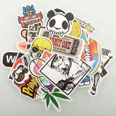 30 Pieces Stickers Skateboard Snowboard Laptop Luggage Bike Decals mix Cool
