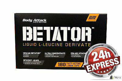 EXPRESSVERAND Body Attack - Betator Fast Acting Liquid 180 Caps Kapseln L-Leucin