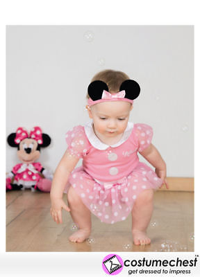 9-12 months Minnie Mouse Pink Bodysuit By Disney Baby
