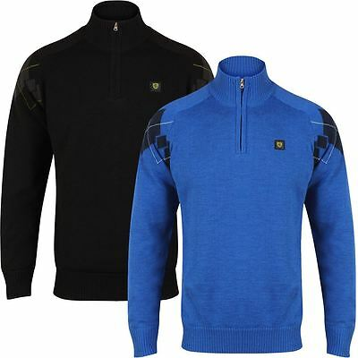 2017 Island Green Windproof 1/4 Zip Sweater Mens Golf Pullover-LINED