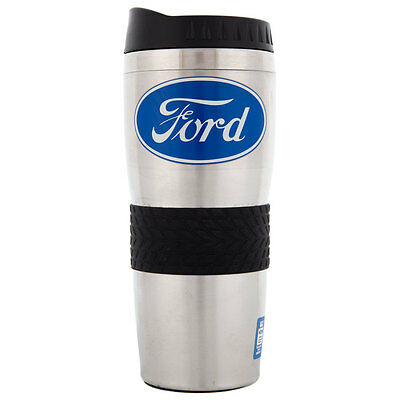 Blue Ford Logo Collectible Coffee Mug Stainless Thermos / Ford Coffee Cup