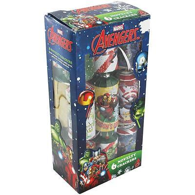 Marvel Avengers Novelty Christmas Xmas Crackers Pack of 6 Gift New Official