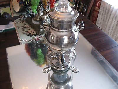 Excellent Antique/vintage Silver Plate  Hot Water/coffee Samovar