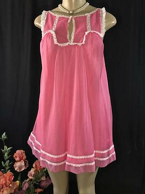 Vintage Kayser Baby Doll, Top Only, Pink Size S