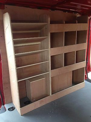 Mercedes Vito XLWB Plywood Racking Shelving System With Drill / Case Storage