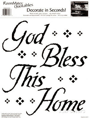 God Bless This Home Wall Decal Sticker - 5.5x11