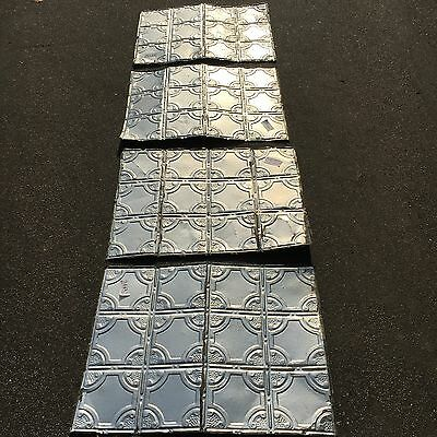 Antique Vintage VICTORIAN TIN CEILING Salvage Reclaimed LOT OF FOUR 24  x 32