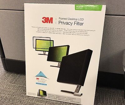 "3M PF324W Framed Privacy Screen Filter for 24"" Widescreen Desktop Monitor"