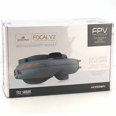 Spektrum Focal V2 VR2510 VGA FPV Wireless Goggles Fatshark Headset W/ Diversity