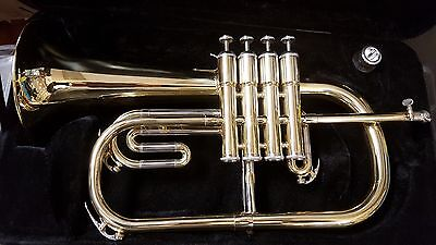 Professional Bb Dark Mellow Bb 4 Valves Gold Brass Flugelhorn