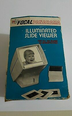 Vintage KMART Focal Panarama Illuminated 2x Slide Viewer, 2x2 Slides