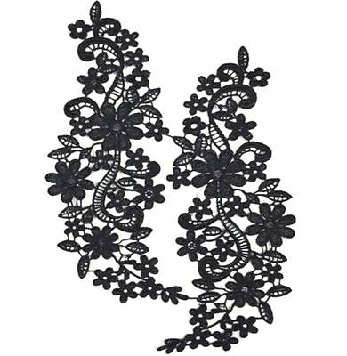 FD4571 □ Hollow Flora Flower Lace Collar Neckline Embroidery Patch Trims DIY
