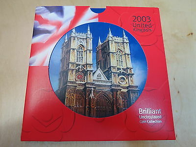 United Kingdom UK 2003 Brilliant Uncirculated Royal Mint Coin set collection