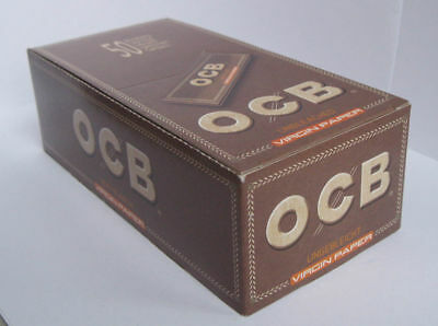 OCB VIRGIN Regular size UNBLEACHED Rolling paper regular size 70mm - 2500 papers