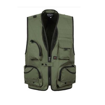 Men's Multi Pocket Utility Vest Waistcoat Fishing Travel Hiking Hunting Jacket