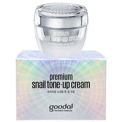 Goodal Premium Snail Tone-up Cream Brightening Hydrating Soothing White-Ginseng