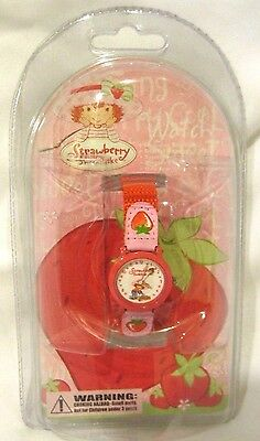 Strawberry Shortcake Character Analog Watch with Nylon Leather Band-Brand New!