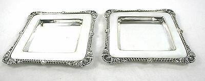 Antique Victorian Silver Plated Trinket Change Serving Nut Trays Pair c.1890