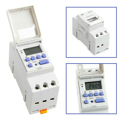 New Digital LCD Programmable Timer 12V DC DIN Rail Time Relay Switch Power