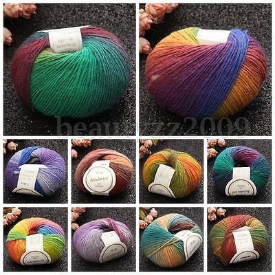 50G Yarn Ball Super Soft Cashmere Baby Natural Smooth Bamboo Cotton Knitting