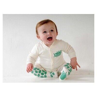 Creeper Crawlers Unisex Baby East Grip Crawl Bodysuit, Off-white (cream), 6-9
