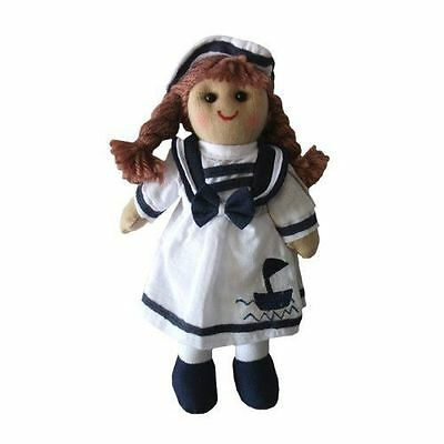 Powell Craft Traditional Sailor Girl Rag Doll 19cm Retro Toy New