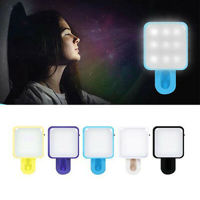 Selfie Portable LED Ring Fill Light Camera Photography for iPhone Android Phone`