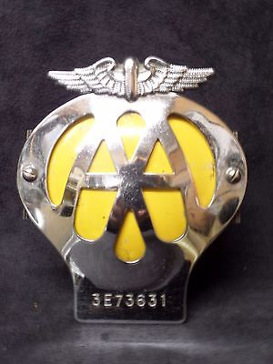 Vintage Classic car Early AA Members grille badge