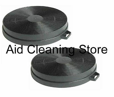 2 x for Baumatic S1 Carbon Charcoal Cooker Extractor Hood Round Filters 2X6848