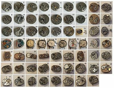 (12) Orologio - Calibro - Movimento Vintage Work /To Spare Parts or Repair