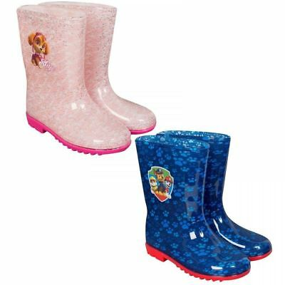 Paw Patrol Wellies Wellington Boots Shoes Kids Girls Boys Pink Blue Chase Skye