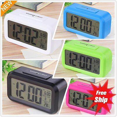 Digital LCD Snooze Electronic Alarm Clock with LED Backlight Light Control ZY