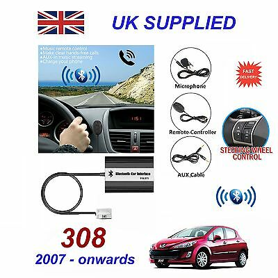For PEUGEOT 308 Bluetooth Hands Free Phone AUX Input MP3 USB Charger Module