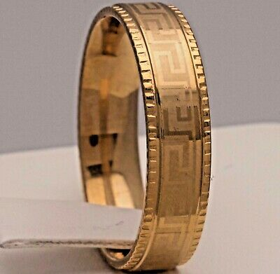 6mm Stainless Steel Gold Plated Comfort Fit Ring - New Mens Womens Wedding Band