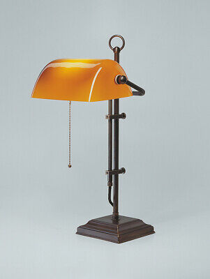 Bankers Lamp Real Antique Brass Bankers Lamp Office Orange Desk Lamp
