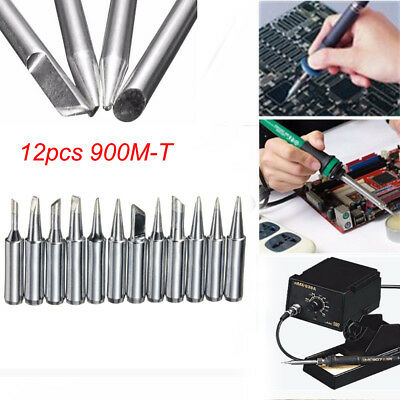 NEW 12x Screwdriver Iron Tip 900M-T For Hakko 936/937/928 Soldering Station Tool
