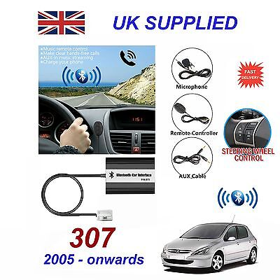 For PEUGEOT 307 Bluetooth Hands Free Phone AUX Input MP3 USB Charger Module