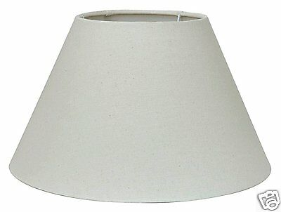 Pacific Lifestyle 243-14-CR 14-inch Linen Empire Cylinder Shade, Cream