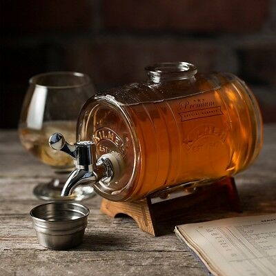 Kilner Glass Barrel Drinks Dispenser - Spirits Brandy Whisky Gin - 1 Litre