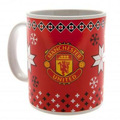 Manchester United F.C. Christmas Mug Official Merchandise