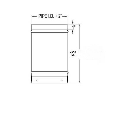 ICC Residential Chimney RIS Pipe Section For Renaissance Fireplace RC-10RIL1****