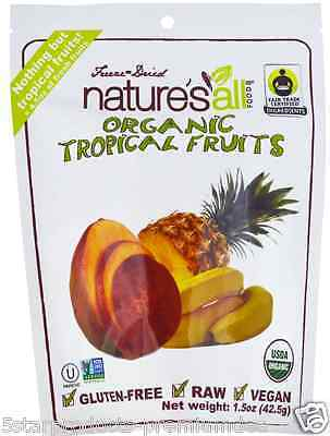 New Nature's All Organic Tropical Fruit Freeze-Dried Gluten Free Vegan Raw Foods