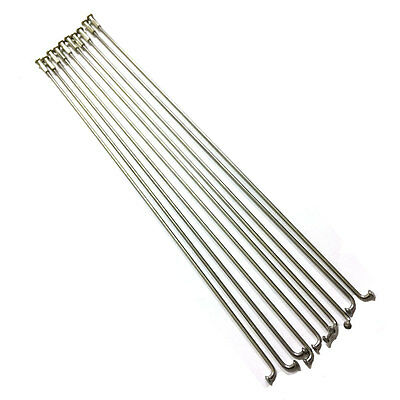 10 Bicycle Bike Stainless Steel Spokes with Nipples sizes 262 mm