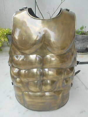 Brass Finish Medieval Spartan Armor Muscle Crusader Militaria Replica Jackets