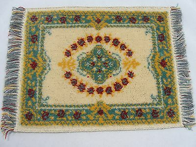 Vintage Dollhouse Large Persian Area Rug Miniature Pure Wool Made in Austria