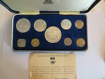 1966 Commonwealth of the Bahamas 9 coin Uncirculated Set, silver
