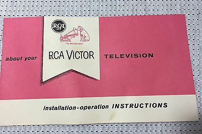 Vintage 1950-1960's RCA Victor Television Instructions Booklet TV