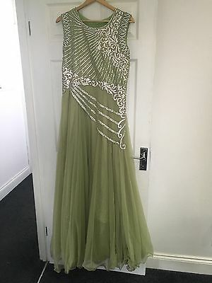 Lime Green Indian Dress (anarkali Style)